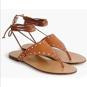 🎉HP🎉 NEW J.Crew Ankle-tie thong sandals